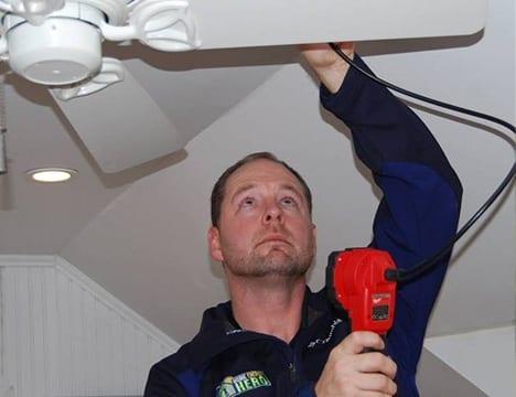 Rich addressing a ceiling fan issue